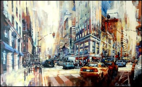 Piotr Zawadzki (ur. 1971), Metropolis. New York gold, 2021