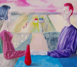 Małgorzata Fenrych (ur. 1964), Czerwony wazon, 2021