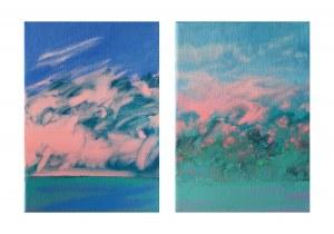 Lidia Wnuk (ur. 1988), Wieczorne niebo wiosna, dyptyk, 2021