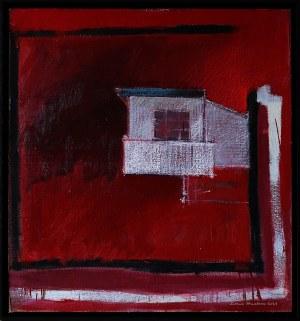 Iwona Stachura (ur. 1968), Recykling szkicu. Różowy 6, 2021