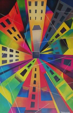 Ewelina Grabowska (ur. 1992), Neon city, 2021