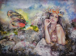 Anna Sandecka-Ląkocy (ur. 1970), Giochi di farfalle, 2021