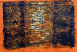 Maria Janiga (ur. 1952), Monotypia 6, seria II, 2017