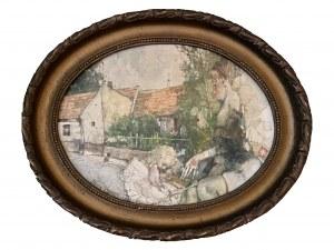 Jerzy Duda-Gracz ( 1941 – 2004 ), Obraz 1832/Miasto Łagów-Spacer Niedzielny 1995