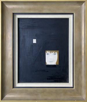Kazimierz Mikulski ( 1918 – 1998 ), Czarna abstrakcja z portretem kobiety