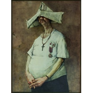 Jerzy Duda-Gracz ( 1941 - 2004), Autoportret ( Ora et colabora ) 1982/2021