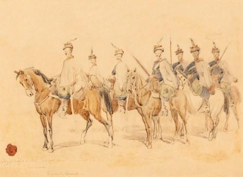 Juliusz Kossak (1824-1899), 13 Galicyjski Pułk Ułanów (Ułani Rodakowskiego)