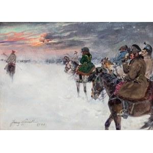 Jerzy Kossak (1886-1955), Wizja Napoleona w odwrocie spod Moskwy