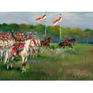 Jerzy Kossak (1886-1955), Parada kawalerii na krakowskich Błoniach