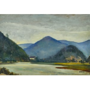 Irena WEISS – ANERI (1888-1981), Pejzaż z okolic Muszyny, 1922
