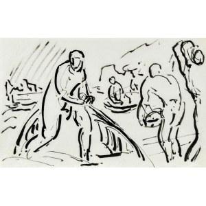 Leopold GOTTLIEB (1883-1934), Szkice mężczyzn