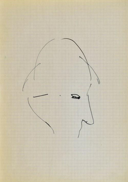 Jerzy PANEK (1918-2001), Głowa ukazana z prawego profilu, 1963