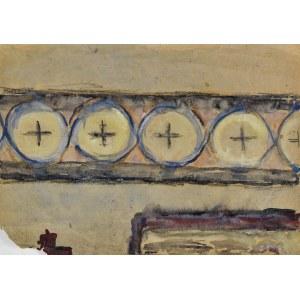 Krystyna PELLETIER (1914-2007), Kompozycja geometryczna z kołami