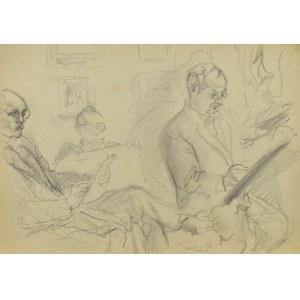 Kasper POCHWALSKI (1899-1971), Artyści przy pracy , 1953