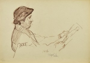 Kasper POCHWALSKI (1899-1971), Artysta przy pracy, 1956