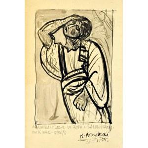 Kazimierz PODSADECKI (1904-1970), Postać wg mozaiki w Bazylice św. Zofii w Salonikach, 1955