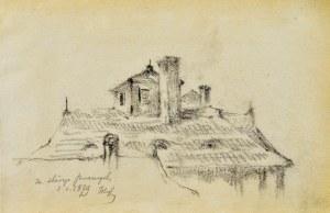 Tadeusz RYBKOWSKI (1848-1926), Fragment zabudowań, 1879