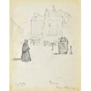 Eugeniusz ZAK (1887-1926), Paryż - Place Saint - Germain - des - Pres