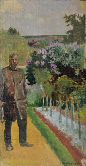 Jacek Malczewski (1854-1929), Mężczyzna w ogrodzie