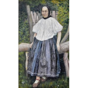 Jan Wałach (1884-1979), Portret góralki z Istebnej, 1920