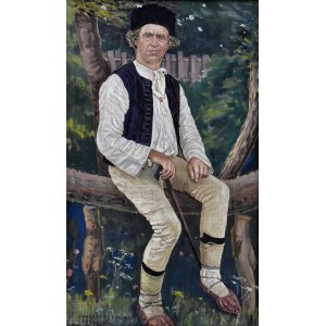 Jan Wałach (1884-1979), Portret górala z Istebnej, 1922
