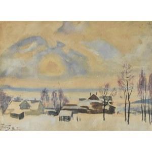Julian Fałat (1853-1929), Zimowy pejzaż z Bystrej