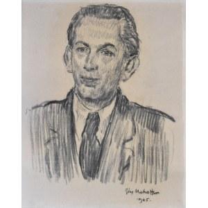 Józef Mehoffer (1869-1946), Portret młodego mężczyzny, 1945