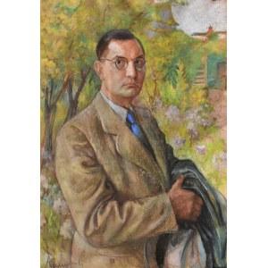 Longin Adamiecki (1914-1945), Portret mężczyzny w okularach