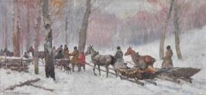 Adam Setkowicz (1875-1946), Wyjazd na polowanie