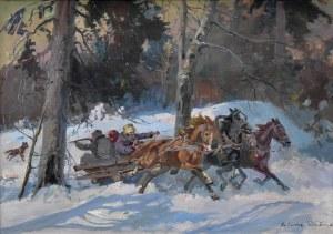 Juliusz Słabiak (1917-1973), Ucieczka przed wilkami