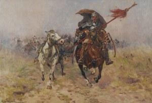 Adam Setkowicz (1875-1946), Żołnierz konny z buńczukiem