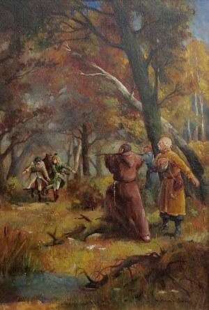 Mieczysław Serwin-Oracki (1912-1977), Pan Tadeusz. Scena z polowania
