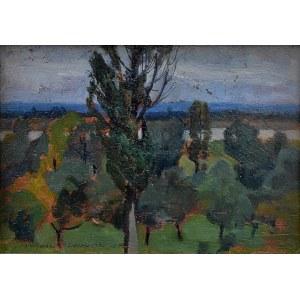 Stanisław Czajkowski (1878-1954), Krajobraz z Góry Kalwarii, 1943