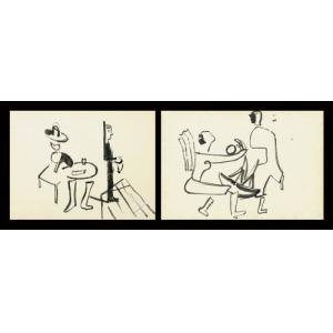 Jarema Maria , W KAWIARNI, OK. 1935 / DWIE POSTACI, OK. 1935