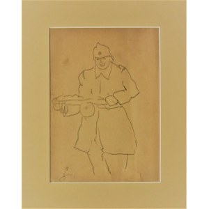 Antoni Suchanek(1901-1982),Ruski sołdat,1945