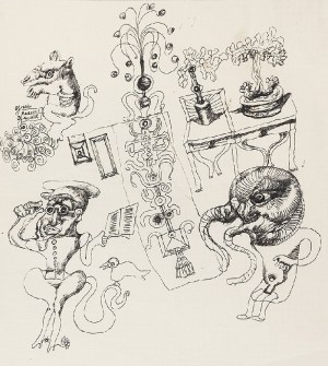 Jan LEBENSTEIN (1930-1999), Postacie fantasmagoryczne