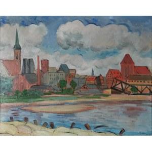 TYMON NIESIOŁOWSKI (1882-1965), Widok Torunia, 1945 (obraz dwustronny)