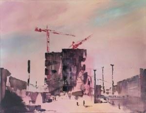 Yuliya STRATOVICH (ur. 1989), Warszawa Centrum (Pink), 2020