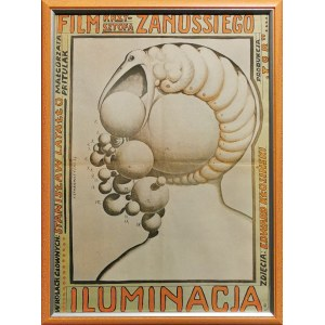 """Franciszek STAROWIEYSKI (1930-2009), """"Iluminacja"""" - Plakat do filmu w reżyserii Krzysztofa Zanussiego, 1973"""