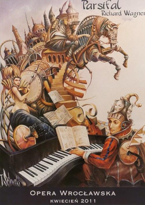 """Tomasz SĘTOWSKI (ur. 1961), """"Parsifal"""" - Plakat dla Opery Wrocławskiej do opery Richarda Wagnera, 2011"""