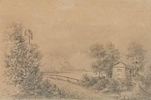 Juliusz KOSSAK (1824-1899), Pejzaż z drogą, 1884