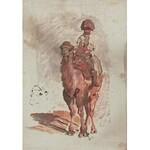 Wacław PAWLISZAK (1866-1905), Jeździec wschodni - szkic