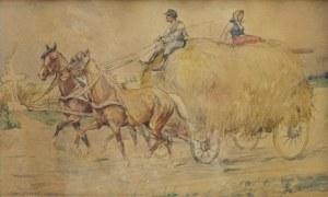 Karol KOSSAK (1896-1975), Wóz z sianem, 1930