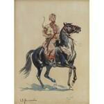 Wacław PAWLISZAK (1866-1905), Jeździec turecki na koniu