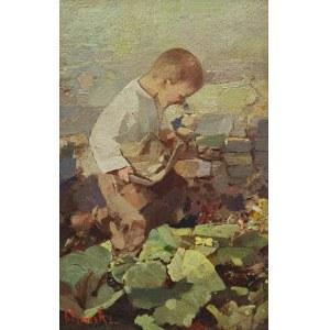 Frantisek MRAZEK (1876-1933), Chłopiec z motylami