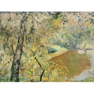 Kazimierz SICHULSKI (1879-1942), Drzewa nad rzeką, 1930