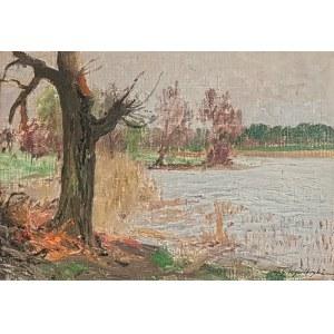Michał Gorstkin WYWIÓRSKI (1861-1926), Drzewa nad wodą