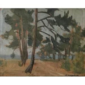 Henryk SZCZYGLIŃSKI (1881-1944), Pejzaż z drzewami