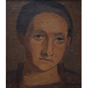 Janina KRAUPE-ŚWIDERSKA (1921-2016), Portret Zofii Gutkowskiej-Nowosielskiej, 1942