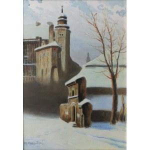 Stanisław Ignacy Poraj FABIJAŃSKI (1865-1947), Widok na Kurzą Stopkę zimą